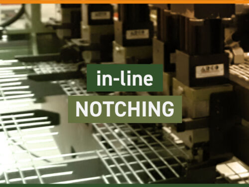 In-line notching